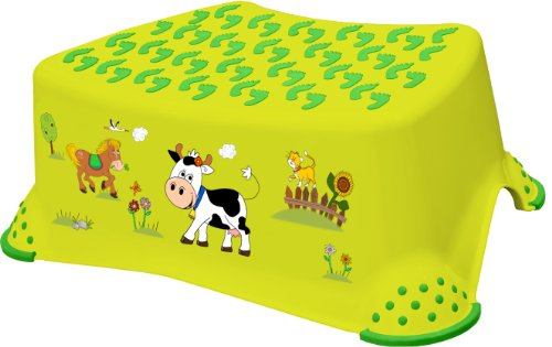 "keeeper 18642274063 tomek ""funny farm"" tritthocker mit anti-rutsch-funktion green meadow"