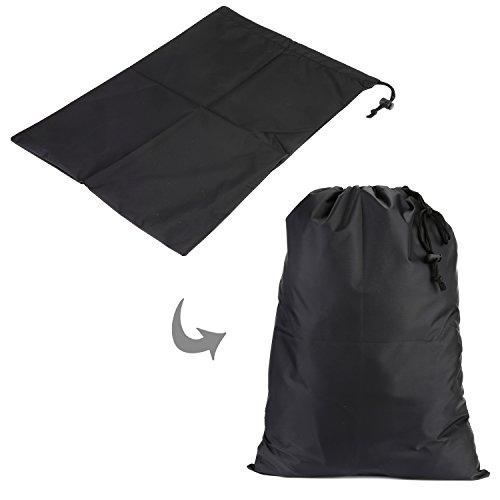 HOMFA Kleidertaschen Set 5-teilige Packtaschen Kofferorganizer Reisetasche Koffertaschen Packwürfel Set inkl.Wäschebeutel Schuhbeutel Schwarz