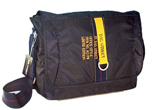 Bag Street Überschlagtasche, Umhängetasche Schultasche Tasche Farbe Schwarz Fa. Bowatex