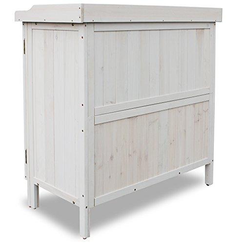 Habau Gartentisch Lino, grau, 98 x 48 x 95 cm, 3095