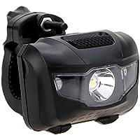 Luz de trabajo LED de búsqueda, compacta y ligera 400 lúmenes, con clip de 360 grados, 4 modos de iluminación, resistente al agua para montar y usar al aire libre, 3 pilas AAA (no incluidas), negro