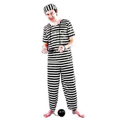 Patry-Partners 87025 Herren-Kostüm Sträfling, Einheitsgröße -Gefangener-Prisoner- Sträflingskostüm