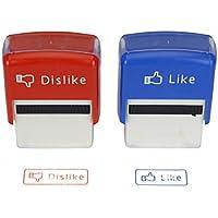 Stempel Like & Dislike Social Network Fun Stempelset Rot und Blau