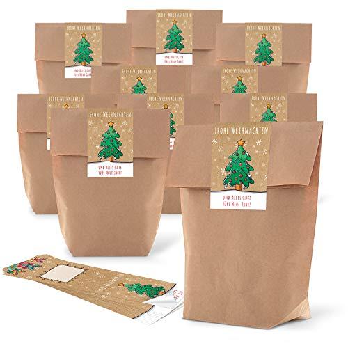 Lot 25 petits sacs papier marron naturel