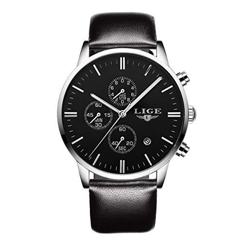 Montre,Montre Homme Affaires Décontractée Sport Style SImple Confortable Cuir Etanche Quartz Multifonction Calendrier Chronograph