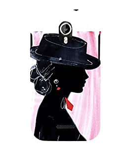 Party Girl 3D Hard Polycarbonate Designer Back Case Cover for Micromax Canvas Magnus A117