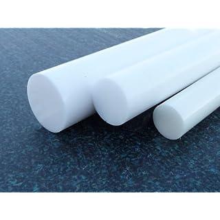 Rundstab aus PE 1000 UHMW natur (weiss) Ø 50 mm, Lang 1000 mm Kunststoffrundstab alt-intech®