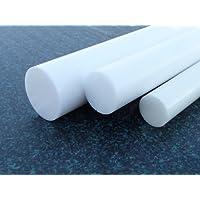 PTFE barre blanc Ø 30 mm longueur 100 mm (Teflon) Joncs pleins PTFE