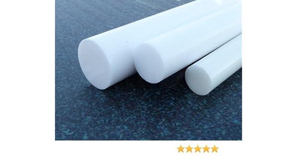 Teflon Barre tondo PTFE bianco /Ø 80 mm lungo 100 mm PTFE compatto