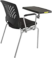 Mahmayi Mars 8712Nsf Student Chair With Molded Foam Fabric Student Studying Chair With Writing Tablet Arm and