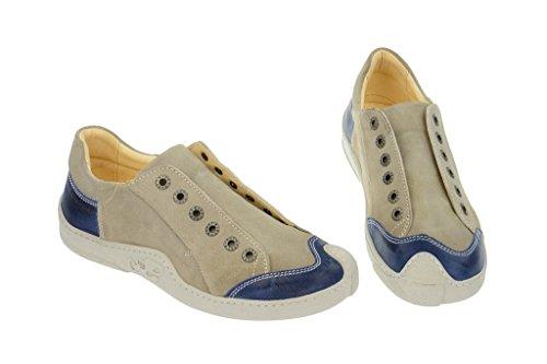Eject skat, mocassins femme beige/bleu-cuir, chaussures basses homme Beige - Beige