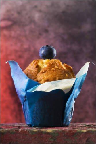 Poster 100 x 150 cm: Blaubeer Muffin von K&L Food Style - hochwertiger Kunstdruck, neues Kunstposter -