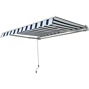 Outsunny 3m X 2 5m Garden Patio Manual Awning Canopy Sun