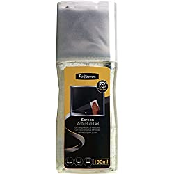 Fellowes 99079 - Gel Limpiador con paño de microfibra para limpieza de pantallas de ordenador, portátiles, tablet, smartphone e E-Books