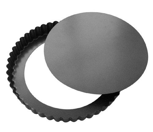 DeBuyer 4706.20 Tortenform, Edelstahl, schwarz, 19 x 18,8 x 2,4 cm