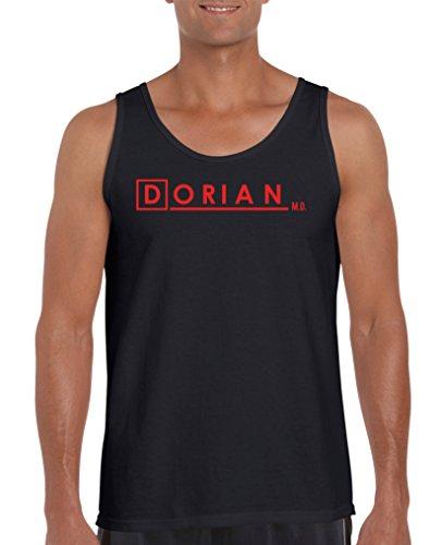 Comedy Shirts - Dorian Scrubs - Herren Tank-Top - Schwarz / Rot Gr. XXL (Top Scrub Herzen)