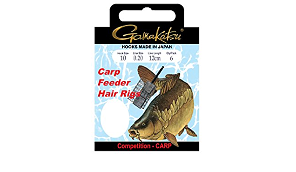 Gamakatsu BKS-3323B CARP Feeder Hair RIGS 12cm 0,20mm 10 Bronze
