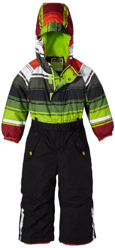 Killtec Kinder Ski-Overall mit Kapuze Eike Mini Stripe, lime, 104, 23122-000