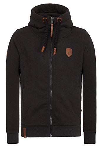 Naketano Male Zipped Jacket Birol Black, XXXL
