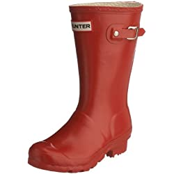 Hunter Original Kids W23500 - Botas para niños, color rojo, talla 30/31