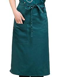 Byqny Unisex Mitad Chef Delantal Cocina Cintura Delantal Profesional Para Chefs Con Un Bolsillo
