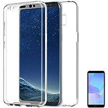 8e1a712f3365a PLANETMOVIL Huawei Y6 2018  HONOR 7A Funda Carcasa Doble Cara 360 de  Silicona Delantera