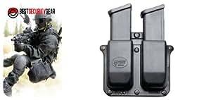 Fobus Holster Pochette Ceinture Large pour Chargeur Double pour Sig Sauer .357 cal .40 / Glock 9mm .40 .357 .45 G.A.P / Heckler Koch H&K 9mm et cal .40 / Smith & Wesson SW M&P 9mm et cal .40 6900-BH FOBUS + Aimant Best Security Gear