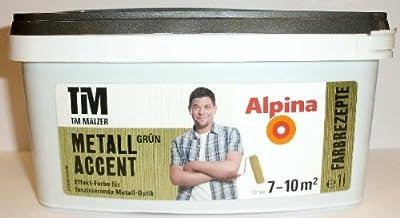 (14,99 ?/l) Alpina Tim Mälzer Farbrezepte Metalaccent Gold/Silber FARBWAHL!!!
