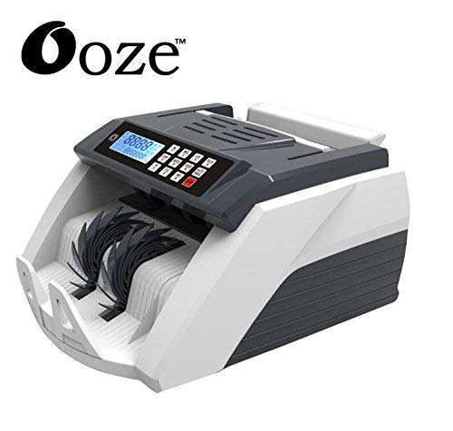 ooze Money Counting Machine with Fake Note Detector (White)