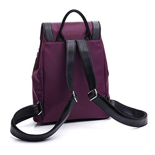 Damenmode Rucksack Student Handtasche Quaste Umhängetasche Black