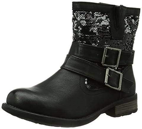 Rieker 97263, Damen Halbschaft Stiefel, Schwarz (schwarz/schwarz-silber/00), 39 EU (6 Damen UK)