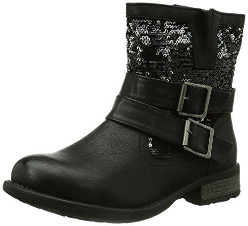 Rieker Damen 97263 Kurzschaft Stiefel, Schwarz (schwarz/schwarz-silber / 00), 38 EU