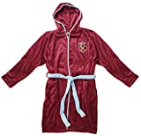 Mens Official WEST HAM United FC Fleece Dressing Gown Bathrobe sizes Red Large
