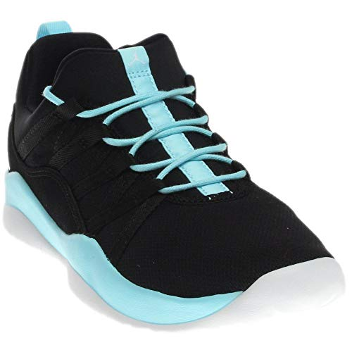 Jordan Girl s Deca Fly Basketball Shoe Black White-Still Blue-White ... fe7406f23