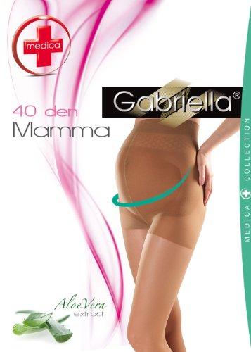 Gabriella - Umstandsstrumpfhose Mamma 40 DEN / Schwangerschaft Strumpfhose (Beige, M (36-40))