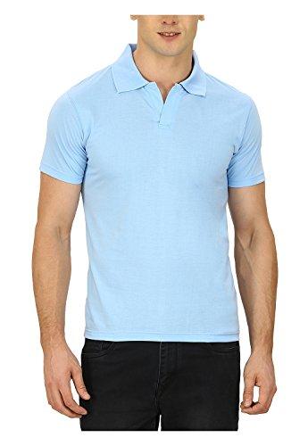 Pintapple Men's ComfortSoft Premium Cotton Polo Collar Half Sleeve T-Shirt with Solid...