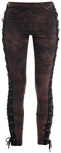 Rock Rebel by EMP Eyelet Lace Up Leggings Leggings marrone XL