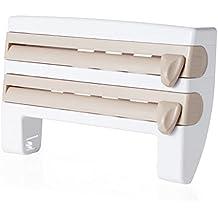 Miniinthebox 1pieza cocina plástico fresco mantener película papel de aluminio barbacoa papel estante y soportes caqui