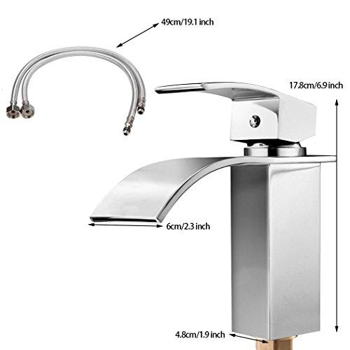 Homdox Design Einhebel Wasserhahn Waschtischarmatur für Badezimmer Waschbecken - 3
