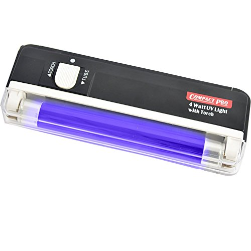 Compact Pro - Torcia ultravioletta luce nera, colore: nero 1