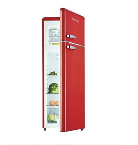 Frigorífico combi con congelador estilo retro GK212.4RT, color rojo brillante, A++, 206 l