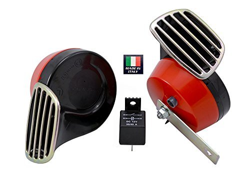 red-black-twin-trumpet-snail-high-low-tone-12v-volt-electromagnetic-loud-dual-replacement-horns-quan
