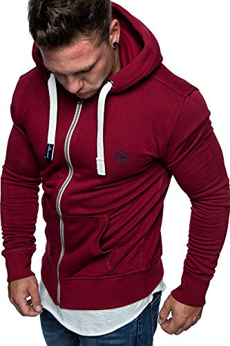 Und 1 Pullover (Amaci&Sons Herren Zipper Kapuzenpullover Sweatjacke Pullover Hoodie Sweatshirt 1-04029 Bordeaux L)