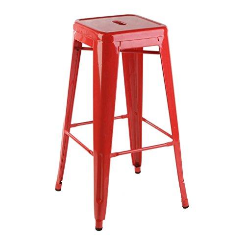 mueblespacio Replica taburete Tolix color - MSD154449011 - Rojo, Acero