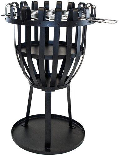 El Fuego® Feuerkorb Aberdeen, Schwarz, 45x73x45 cm