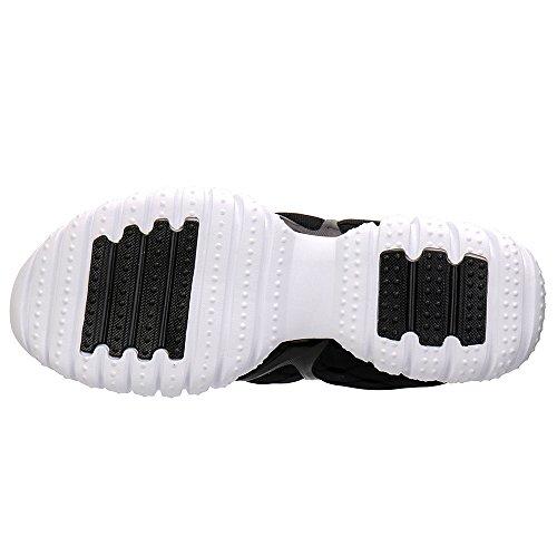 aleader Baskets Chaussures de sport maille filet légère Course à Pied pour Femme Noir - noir