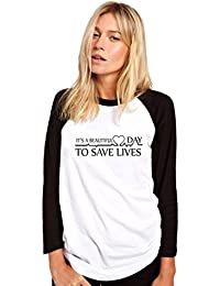 HotScamp It's a Beautiful Day To Save Lives Womens Baseball Top
