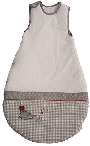 roba Schlafsack, 90cm, Babyschlafsack ganzjahres/ganzjährig, aus atmungsaktiver Baumwolle, Baby- und Kleinkindschlafsack unisex, Kollektion 'Adam & Eule'