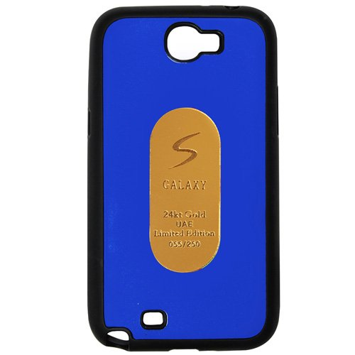 Casotec Metal Back TPU Back Case Cover for Samsung Galaxy Note 2 N7100 - Drak Blue  available at amazon for Rs.269