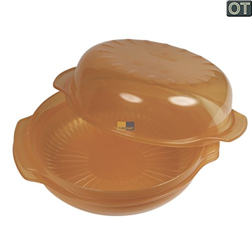 ORIGINAL Bauknecht Whirlpool 482000006222 Dampfgarer Leichtgarer Behälter rund 1,5 Liter -40° +120° Mikrowelle auch Wpro STM006